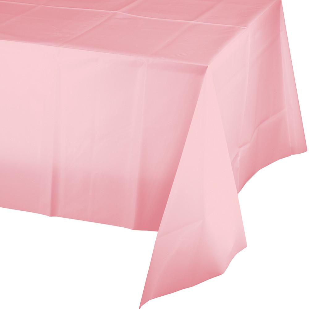 Staltiesė, švelniai rožinė (137x274 cm)