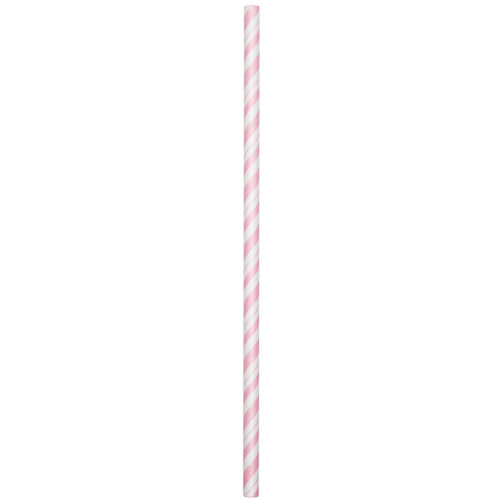 Šiaudeliai, švelniai rožiniai dryžuoti (24 vnt.)