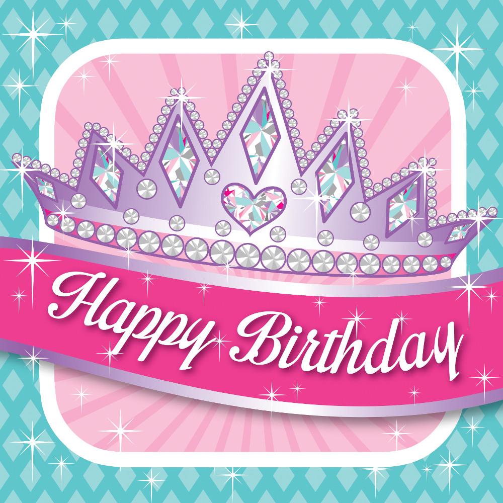 """Servetėlės gimtadieniui """"Princesės puota"""" (16 vnt.)"""
