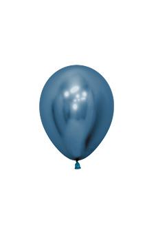 Balionas, metalizuotas mėlynas (12 cm)