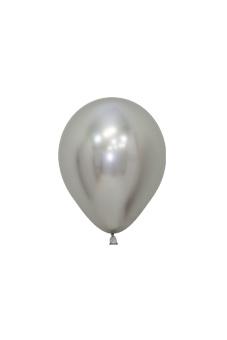Balionas, metalizuotas sidabrinis (12 cm)