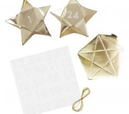 """Advento kalendorius """"Auksinės žvaigždutės"""" 1"""