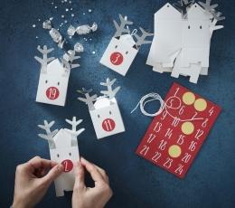 """Advento kalendorius """"Kalėdų elniai-dėžutės"""" 1"""