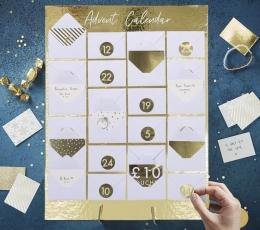 Advento kalendorius – vokelių lenta, auksinė 1