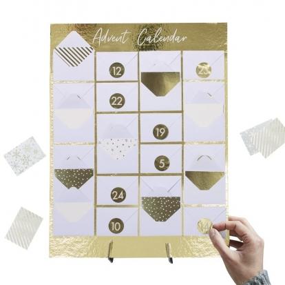 Advento kalendorius – vokelių lenta, auksinė