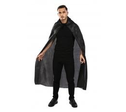 Apsiaustas su apykakle, juodas (1,30 m)