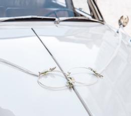 Automobilio dekoravimo rinkinys su lankais, baltas  1