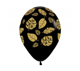 """Balionai """"Auksiniai tropikų lapai"""" (25 vnt./30 cm)"""