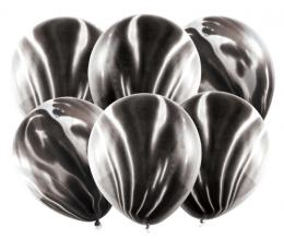 Balionai, juodi marmuriniai (6 vnt./30 cm) 1