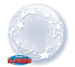 """Balionas-bubble """"Žvaigždės"""", skaidrus (60 cm)"""