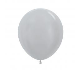 Balionas, perlamutrinis sidabrinis (45 cm)