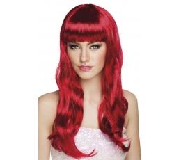 Banguotų plaukų perukas, raudonas