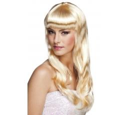 Banguotų plaukų perukas, šviesus