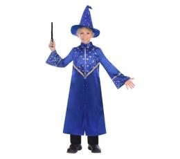 Burtininko kostiumas, mėlynas žvaigždėtas (6-8 m.)