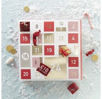 """Advento kalendorius """"Raudoni langeliai"""""""