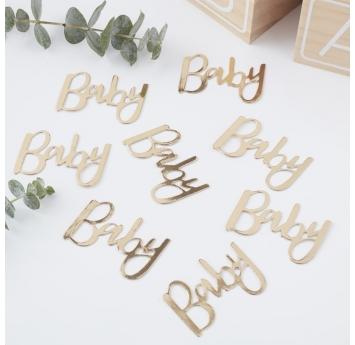 """Konfeti """"Baby"""", auksiniai (14 g)"""