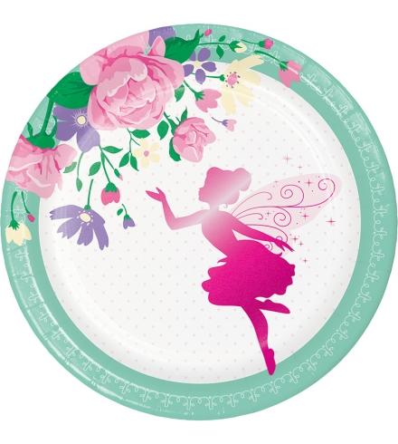 """Lėkštutės """"Gėlių fėja"""" (8 vnt./18 cm)"""