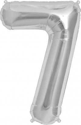 """Folinis balionas """"7"""", sidabrinis (85 cm)"""