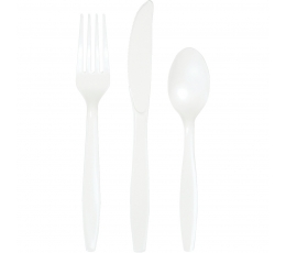 Stalo įrankių rinkinys, baltas (8-iems asmenims)