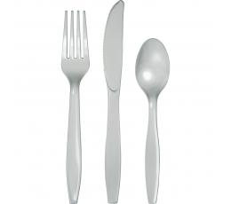 Stalo įrankių rinkinys, pilkas (8-iems asmenims)