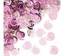 """Konfeti """"Švelniai rožiniai suktukai"""""""