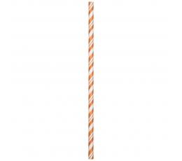 Šiaudeliai, oranžiniai dryžuoti (24 vnt.)