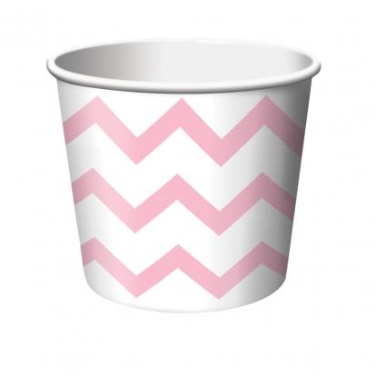 Indeliai užkandžiams, švelniai rožiniai zigzagai (6 vnt.)