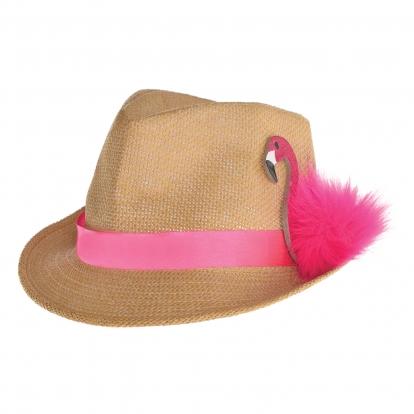 """Skrybėlė """"Rožinis flamingas"""""""