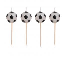 """Žvakutės-smeigtukai """"Futbolas"""" (4 vnt.)"""