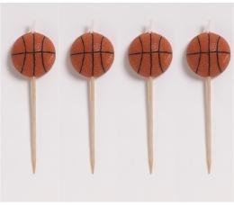"""Žvakutės-smeigtukai """"Krepšinis"""" (4 vnt.)"""