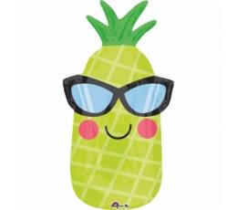 """Forminis balionas """"Linksmas ananasas"""" (30x66 cm)"""