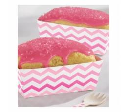 Dėžutės užkandžiams, rožiniai zigzagai (24 vnt.)