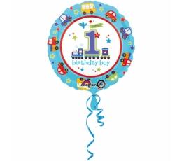 """Folinis balionas """"1-ojo gimtadienio traukinukas"""" (45 cm)"""