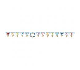 """Girlianda su lipdukais-skaičiais """"Happy Birthday"""" (3,2 m)"""