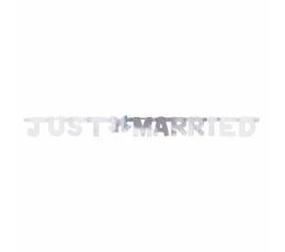 "Girlianda ""Just Married"", sidabrinė (1,3 m)"