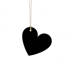 Palinkėjimų kortelės, kreidinės širdelės (10 vnt.) 1