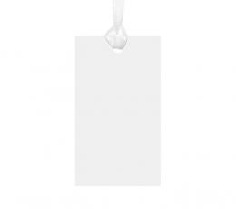 Palinkėjimų kortelės-etiketės, baltos (10 vnt.) 0