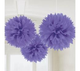 Puručiai, violetiniai (3 vnt./40 cm)