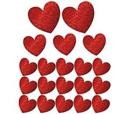 """Karpiniai-dekoracijos """"Širdys"""", blizgios (20 vnt.)"""