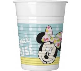 """Plastikiniai puodeliai  """"Pelytė Minė Tropikuose"""" (8 vnt./200 ml)"""