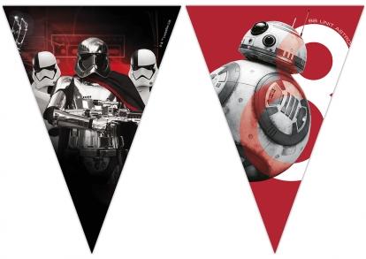 """Vėliavėlių girlianda """"Žvaigždžių karai-The Last Jedi"""" (9 vėliavėlės)"""