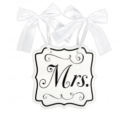 "Kabinama lentelė ""Mrs."" (24x25 cm)"