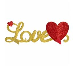 """Stalo dekoracija """"Love"""", blizgi (35x11 cm)"""