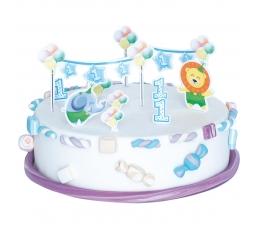 """Torto dekoravimo rinkinys """"1-asis berniuko gimtadienis"""""""