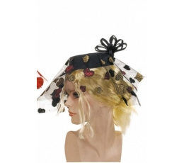 Damos skrybėlaitė, juoda