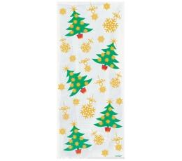 """Dovanų maišeliai """"Kalėdų eglutės"""" (20 vnt.)"""