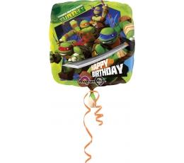 """Folinis balionas """"Vėžliukai Nindzės"""" (43 cm)"""