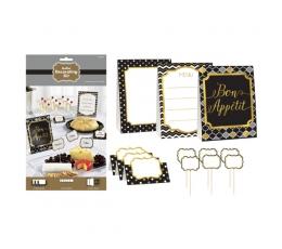 Užkandžių dekoravimo rinkinys, juodai auksinis