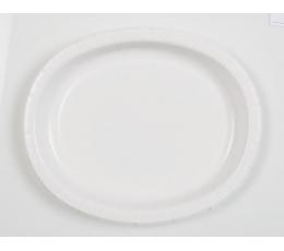Lėkštutės, baltos ovalios (8 vnt./30 cm)