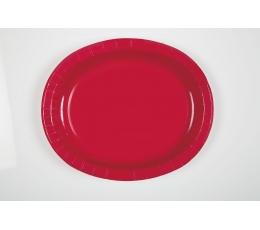 Lėkštutės, raudonos ovalios (8 vnt./30 cm)